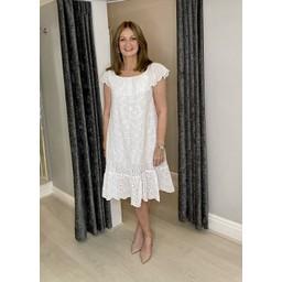 Lucy Cobb Bliss Broderie Bardot Dress - White