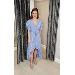 Lucy Cobb Devora Dip Hem Dress - Denim Blue