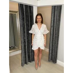 Lucy Cobb Winnie Wrap Cotton Dress  - White