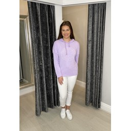 Lucy Cobb North Star Slogan Hoodie - Lilac
