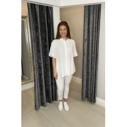 Lucy Cobb Fiona Frill Cheesecloth Shirt - White