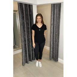 Lucy Cobb Sadie Star Knitted T-shirt - Black