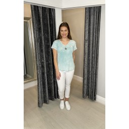 Lucy Cobb Sadie Star Knitted T-shirt - Mint