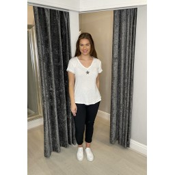 Lucy Cobb Sadie Star Knitted T-shirt - White