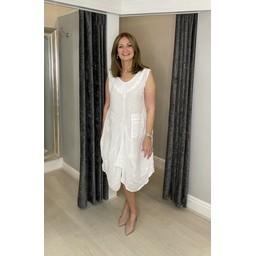 Lucy Cobb Pippa Linen Parachute Dress in White