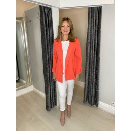 Lucy Cobb Scarlett Cheesecloth Jacket in Coral