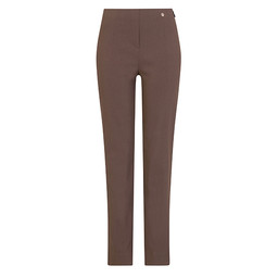 Robell Trousers Marie Full Length Trousers in Mocha