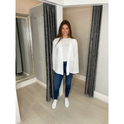 Lucy Cobb Scarlett Cheesecloth Jacket in White