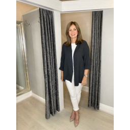 Lucy Cobb Scarlett Cheesecloth Jacket in Charcoal