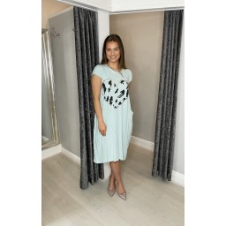 Lucy Cobb Taylor Heart T Shirt Dress in Mint