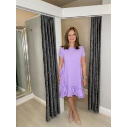 Lucy Cobb Ella Frill Dress  in Lilac