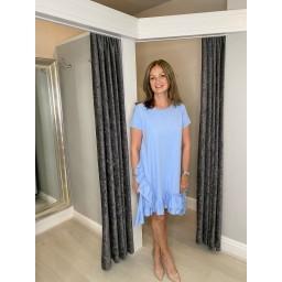 Lucy Cobb Ella Frill Dress  in Baby Blue