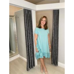 Lucy Cobb Ella Frill Dress  in Sage