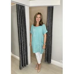 Lucy Cobb Antibes Linen Dress in Mint
