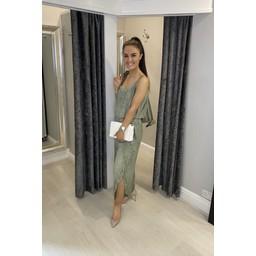 Lucy Cobb Elasticated Waist Lightweight Jumpsuit in Khaki