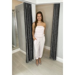 Lucy Cobb Brooke Bandeau Jumpsuit in Baby Pink