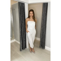 Lucy Cobb Brooke Bandeau Jumpsuit in White