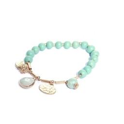 Lucy Cobb Jewellery Gold Ball Bracelet 1375 - Blue