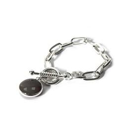 Lucy Cobb Jewellery Silver Bar Clasp Link bracelet 1205 - Silver
