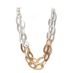 Lucy Cobb Jewellery Short two-toned linked necklace - Gold Silver