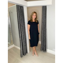 Lucy Cobb Taylor T Shirt Dress in Black