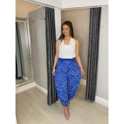 Lucy Cobb Harper Harem Trousers in Royal