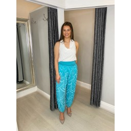 Lucy Cobb Harper Harem Trousers in Green