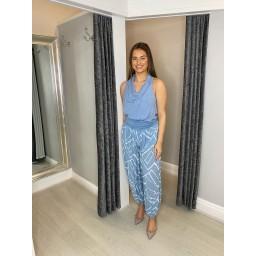 Lucy Cobb Harper Harem Trousers in Light Blue