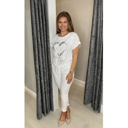 Lucy Cobb Kendra Knot Front Tee - White