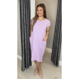 Lucy Cobb Taylor T Shirt Dress in Lilac