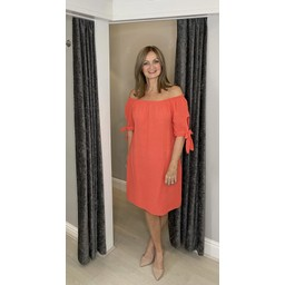 Lucy Cobb Clarity Cheesecloth Dress - Coral