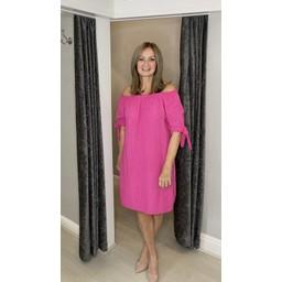 Lucy Cobb Clarity Cheesecloth Dress - Fuchsia