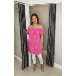 Lucy Cobb Bridget Bardot Tunic in Fuchsia