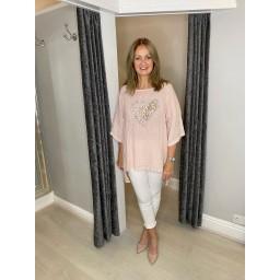 Lucy Cobb Eleni Heart Tunic - Baby Pink