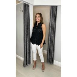 Lucy Cobb Brea Broderie Shirt - Black