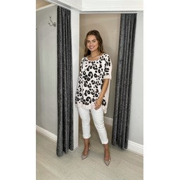 Lucy Cobb Leoni Leopard Top in Baby Pink