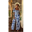 Jayda  Printed Jumpsuit  - Blue Mix - Alternative 1