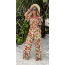Jayda  Printed Jumpsuit  - Watermelon - Alternative 1
