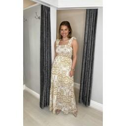 Lucy Cobb Melodie Maxi Dress - Ochre