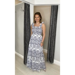Lucy Cobb Melodie Maxi Dress - Navy