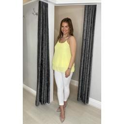 Lucy Cobb Devan Diamante Swing Vest  - Yellow