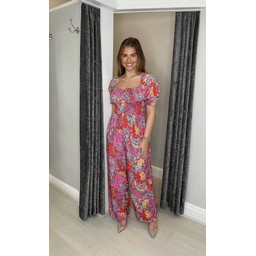 Lucy Cobb Jayda  Printed Jumpsuit  in Multicoloured