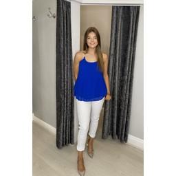 Lucy Cobb Devan Diamante Swing Vest  - Royal