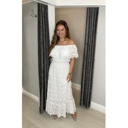 Lucy Cobb Laretta Lace Maxi Dress - White