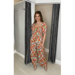 Lucy Cobb Jayda  Printed Jumpsuit  in Watermelon
