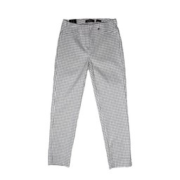Robell Trousers Rose 09 Diamond Check Trousers in Light Grey