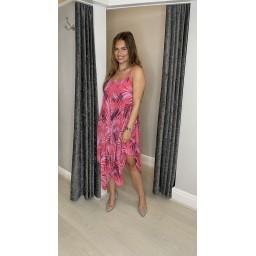 Lucy Cobb Fern Handkerchief Dress - Coral