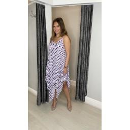 Lucy Cobb Giselle Geometric Handkerchief Dress - Lilac
