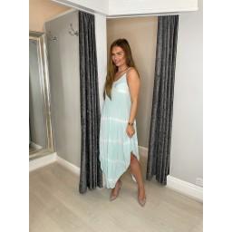 Lucy Cobb Talia Tye Dye Handkerchief Dress - Mint