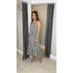 Lucy Cobb Polly Paisley Print Maxi Dress - Khaki